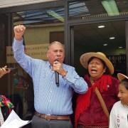 Senador Jorge Soria se compromete con las comunidades indígenas parta no apoyar el TTP 11