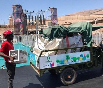 Más de 4 toneladas de residuos de vidrio, 60 kilos de plásticos y 30 kilos de cartón, fueron recolectados tras fiesta de año nuevo The Roof