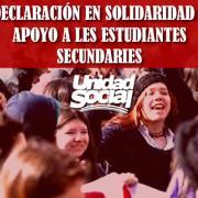Unidad Social entrega respaldo a estudiantes secundarios «perseguidos por su derecho a manifestarse contra la PSU»