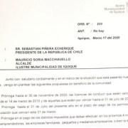 Mediante carta, Alcalde Soria pide al Presidente prórrogas para pagos de contribuciones y otras solicitudes, en  contexto de emergencia sanitaria