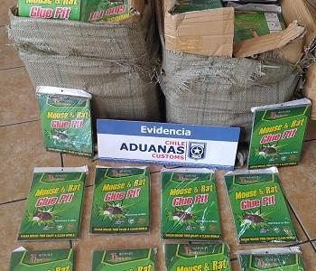 Incautan contrabando de trampas para ratones. Mercancía no fue declarada y estaba oculta bajo cajas de tomates y verduras con destino a Tocopilla.