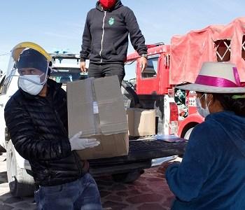 En Colchane 488 familias recibieron cajas de alimentos financiado por el Core. Operativo contó con el apoyo de distintos servicios