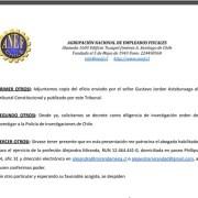 ANEF apunta la mira a la ANI y TC y denuncia ante el Fiscal Abbott intercambio de oficios con información de Inteligencia