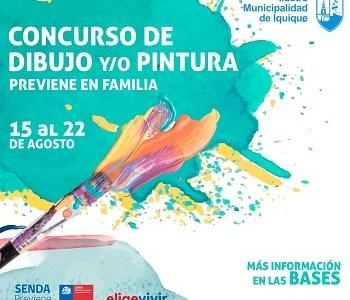 Municipalidad de Iquiquey Senda Previene lanzan concurso de pintura para niños, niñas y adolescentes