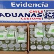 Alcohol gel de origen chino y sin autorización sanitaria interceptan fiscalizadores de Aduanas
