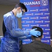 Aduanas realizó segundo testeo masivo de PCR a funcionarios, en operativo con el Servicio de Salud