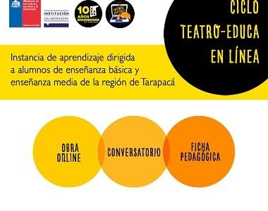 """Espacio Akana lanza convocatoria """"Teatro Educa en-línea"""" dirigida a estudiantes de Tarapacá"""
