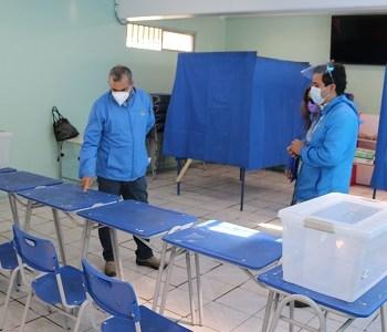 Habilitados 36 locales de votación para el plebiscito con capacidad para recibir a más de 167 mil electores