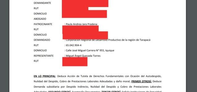 …Y se cayó nombramiento de nuevo gobernador Iquique al conocerse demanda por acoso laboral y sexual en su contra