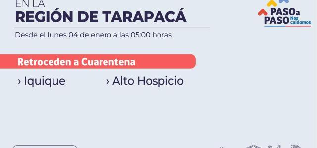 Iquique y Alto Hospicio pasan directo a la Fase 1 de Cuarentena, ante aumento de casos de Covid
