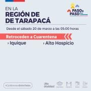 Como se esperaba, Iquique y Alto Hospicio retroceden a cuarentena desde las 05.00 hrs. de este sábado 21