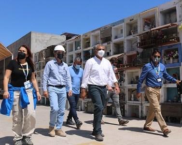 Ante crítica situación sanitaria por Covid 19, Cormudesi acelera construcción de nichos en Cementerio N°3 de Iquique