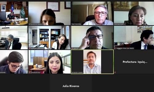 Defensoría Penal Pública participó en Mesa de Justicia Penal de Tarapacá. Entidades coordinan diversas materias de ese sector