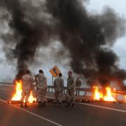 Cut en alerta con condena contra su secretario general, acusado de encender barricada en la carretera