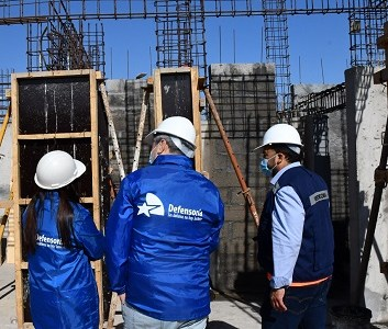 Avances muestra la construcción de las oficinas de la Defensoría Local de Alto Hospicio. Trabajos concluirán en septiembre de este año.