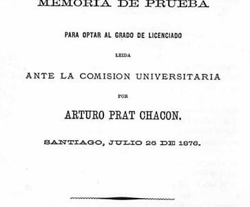 """""""Observaciones a la lei electoral vijente"""": Conoce la tesis de título del héroe de Iquique, Arturo Prat"""