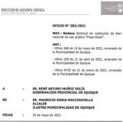 Alcalde Soria desmiente al gobernador y asegura que por ley, desalojo de Plaza Brasil es de competencia de la Gobernación