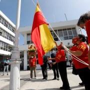 """Devoción a San Lorenzo: Por primera vez bandera se iza bandera del """"Lolo"""", en edificio del Gobierno Regional"""