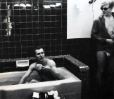 Gerard having a morning cup of coffee and a bath! May 8, 1965