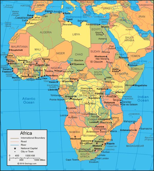 Тест по географии: Как хорошо вы знаете столицы стран Африки?