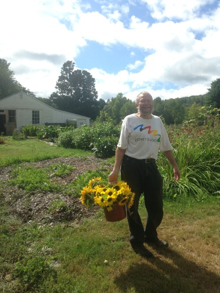 Steve with Sunflowers 2015