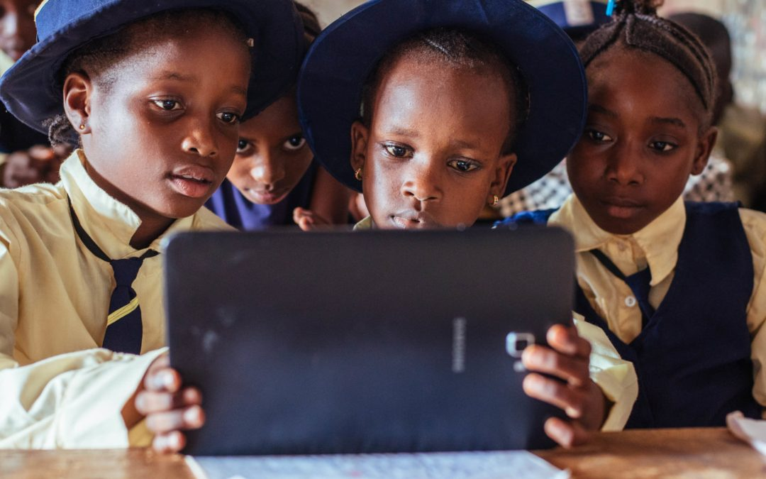 Students in Sierra Leone use education technology to increase their critical thinking