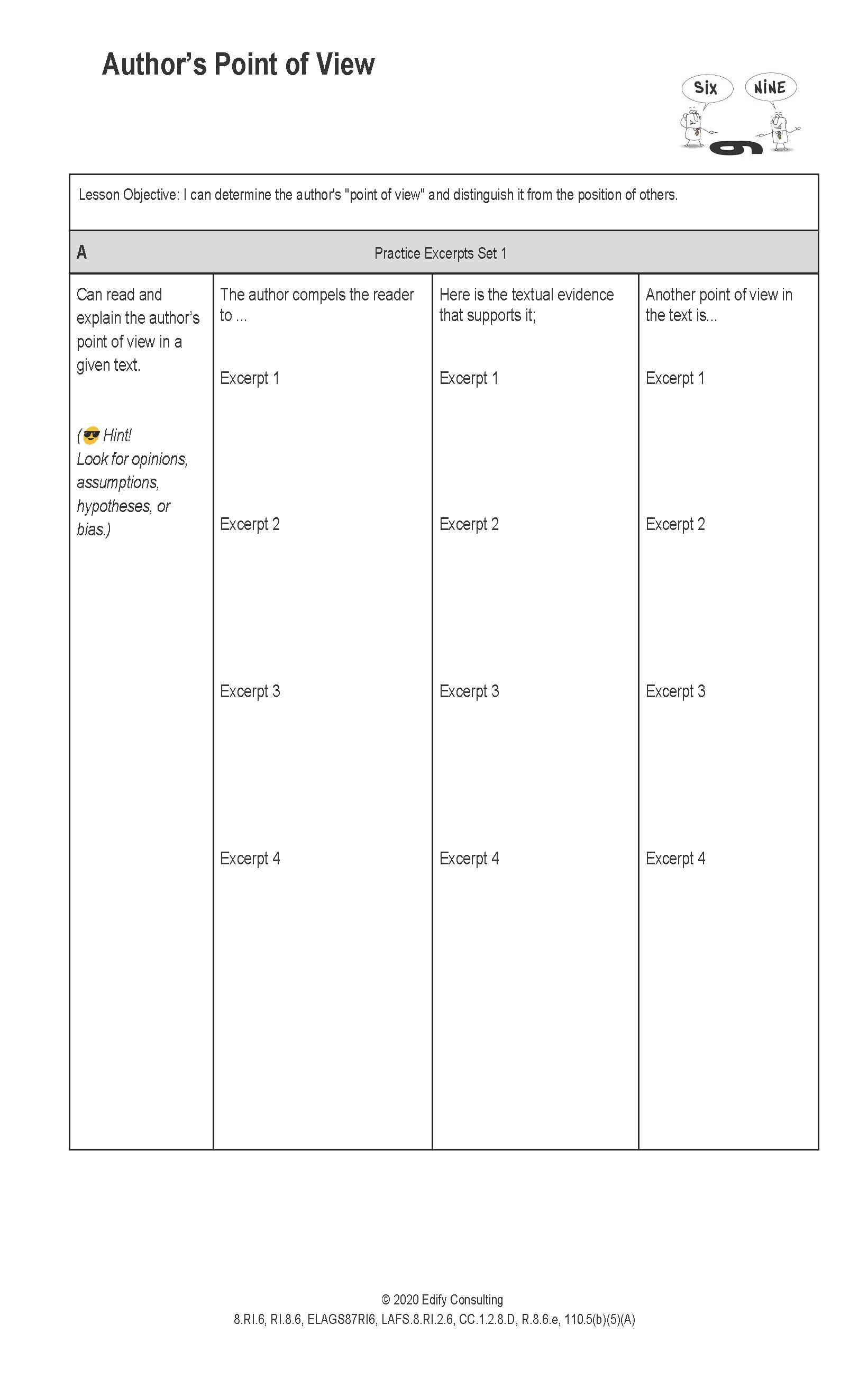 Indiana Worksheets 8 Ri 6