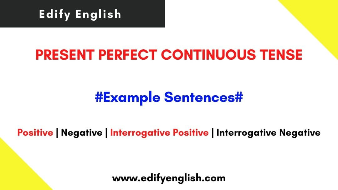 Present Perfect Continuous Tense Examples