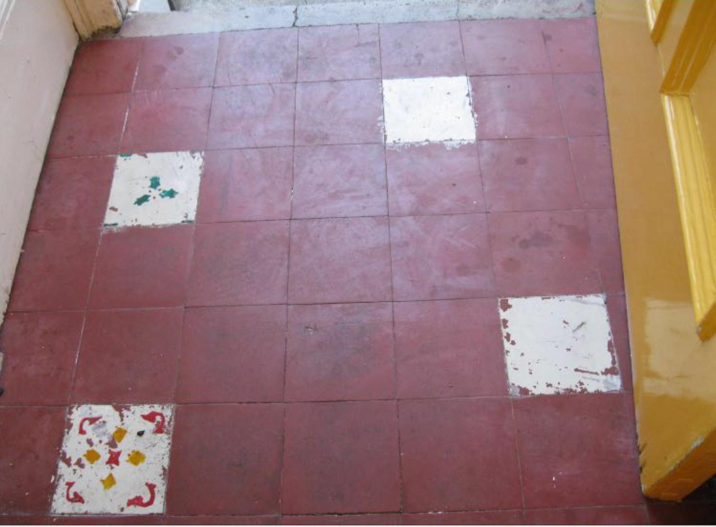 Restoring the appearance of a quarry tiled porch floor cleaning tile quarry tiled porch before cleaning edinburgh dailygadgetfo Choice Image