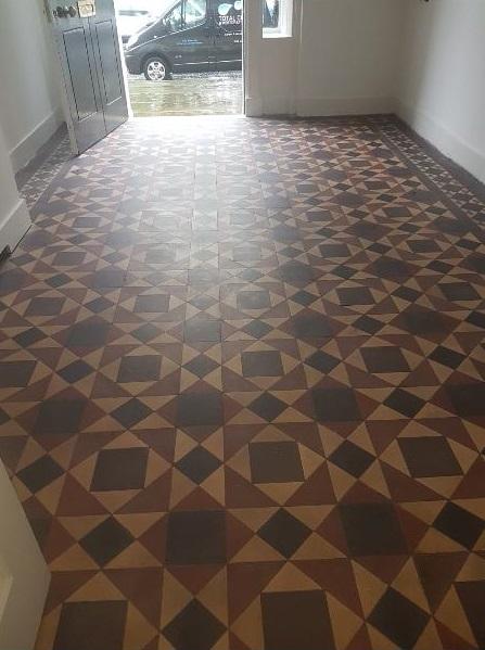 Victorian Tiled Floor Before Cleaning Postcode Lottery HQ Edinburgh