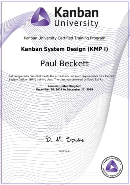 KMP1 Certificate
