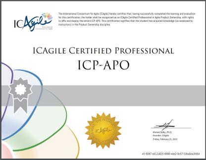 ICP-APO Certificate