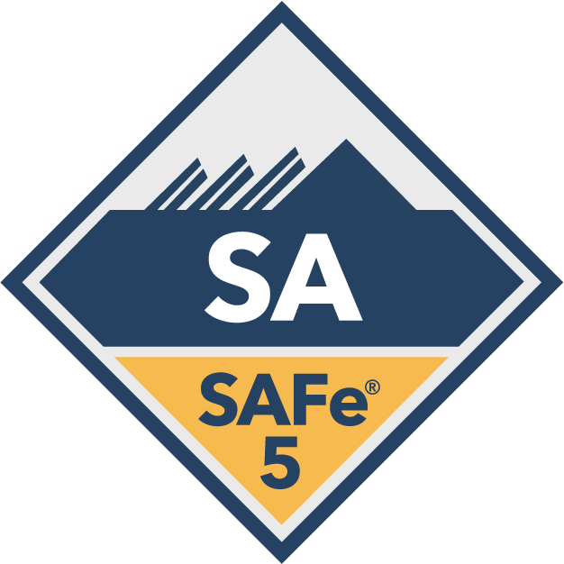 Scaled Agile Framework Leading SAFe SA Badge
