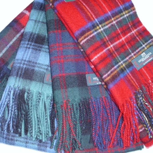 Tartan Lambswool Scarves A to L