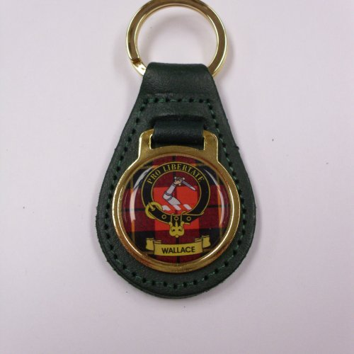 Clan Crest Leather Key Fobs M to Y