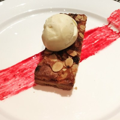 Cherry bakewell tart - The Observatory