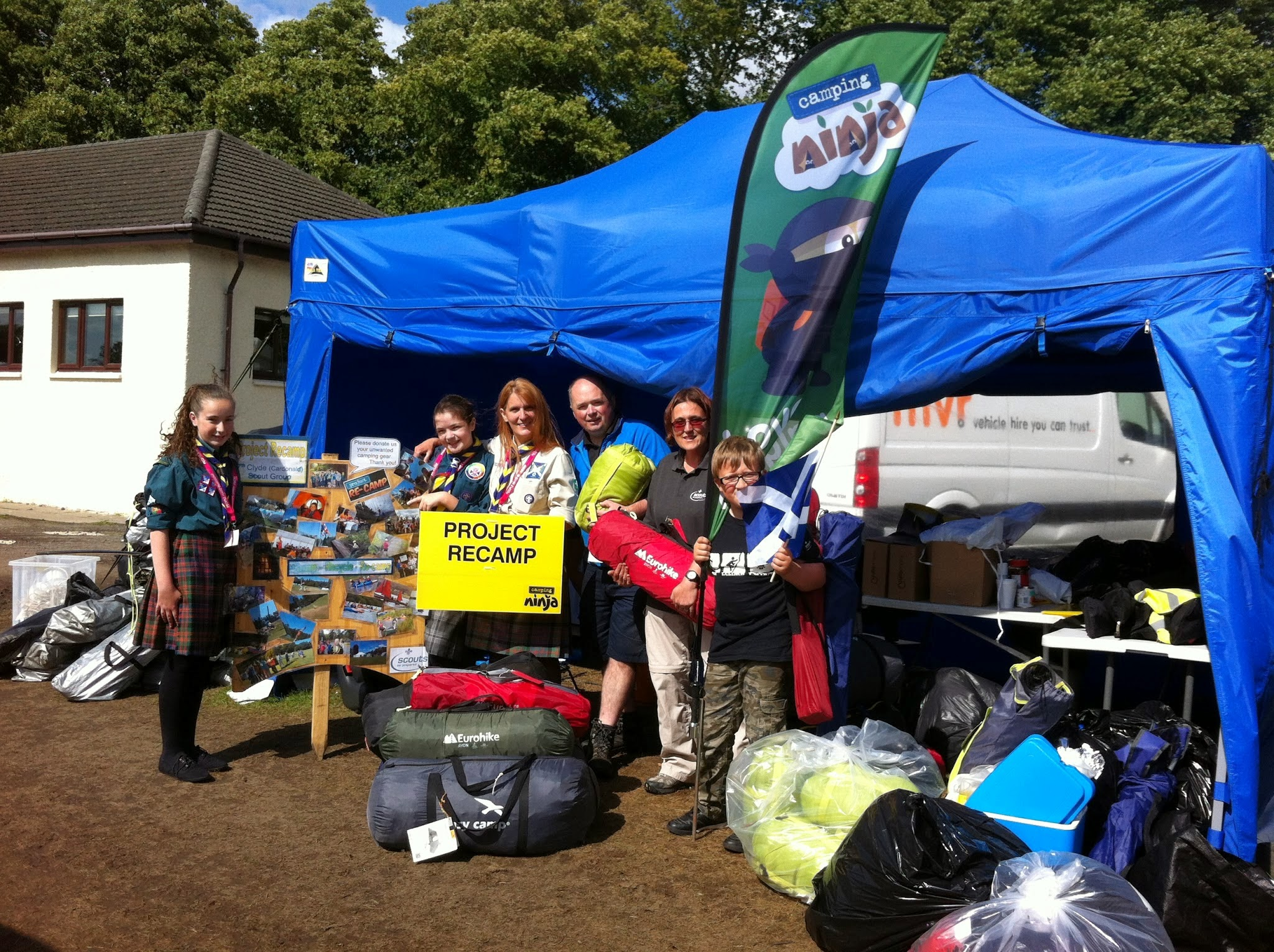 A Glasgow Scout Group Collecting their Campingninja Project Recamp Kit