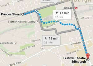 Princes Street to Festival Theatre
