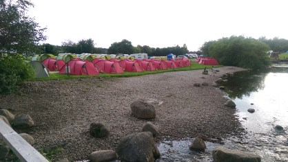 Our Pre-pitched tent village ready to go once again...
