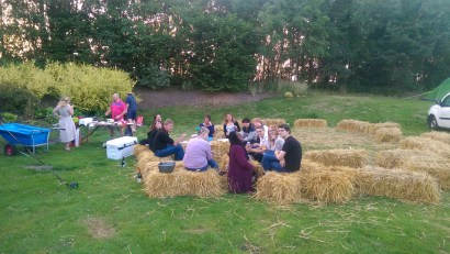 Hay bale hang outs 2016