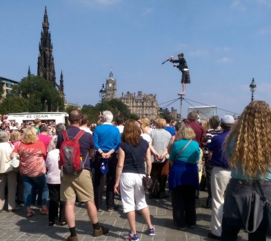 Street performer on The Royal Mile