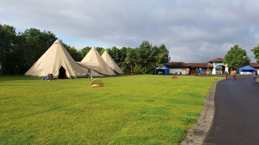 Just set up our Giant Tipis