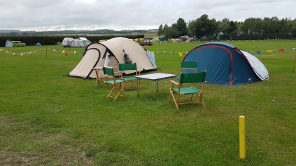 Guests tent in an Electric Meadow Pitch