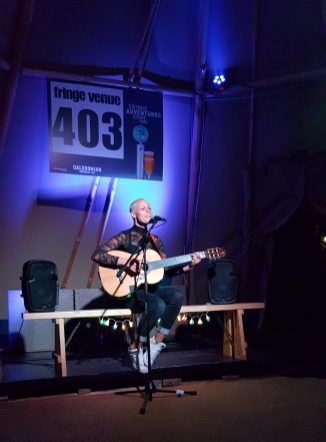 Wrenne performing at Edinburgh Festival Camping Venue 403