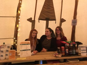 Our friendly staff ready to serve you a beer or coffee at the Tipi Cafe & Bar