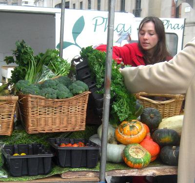 October produce at Edinburgh's Farmers' Market