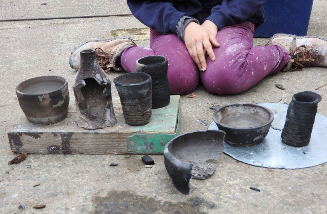 Firing some pots at the Forge