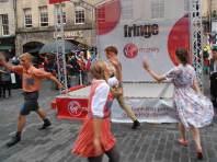 Dancing and Singing at he Edinburgh Fringe