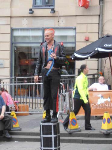 Busking at the Edinburgh Fringe