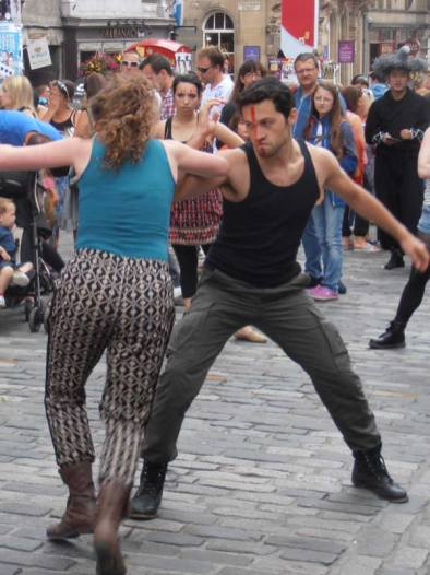 Fighting at the Edinburgh Fringe